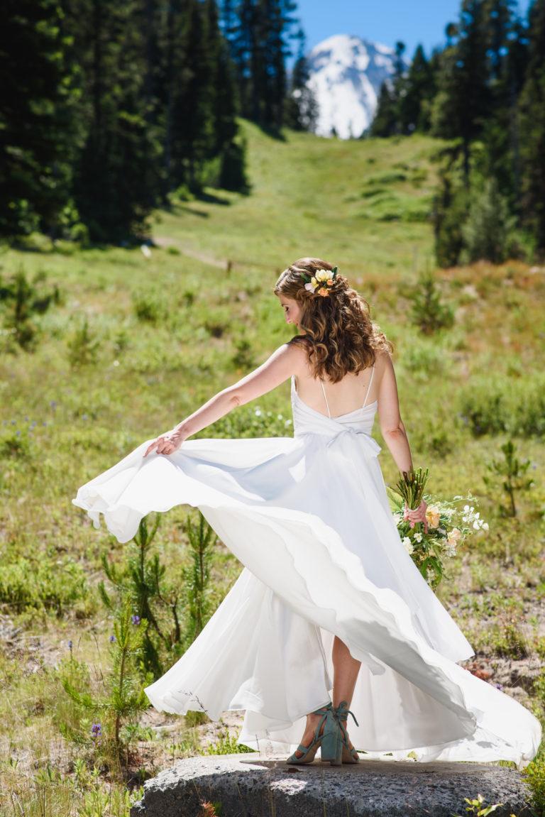 Wedding Bride Outdoors Mt. Hood Cooper Spur Ski Area