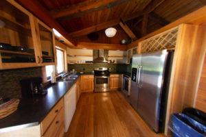 Private Log Home Kitchen Lodging